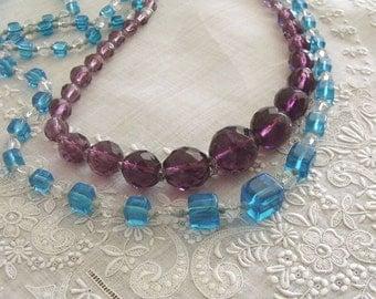 2 Vintage Czech Glass Bead Necklaces