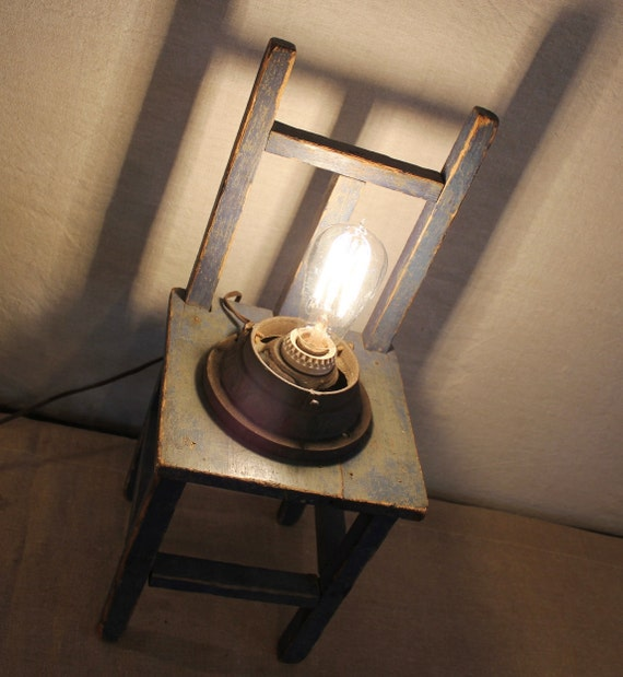 Industrial Lamp with old Bulb