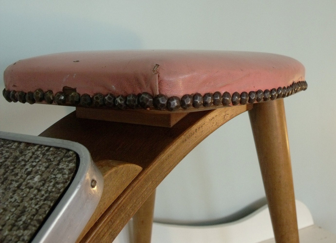 Vintage Mid Century Shoe Store Fitting Stool