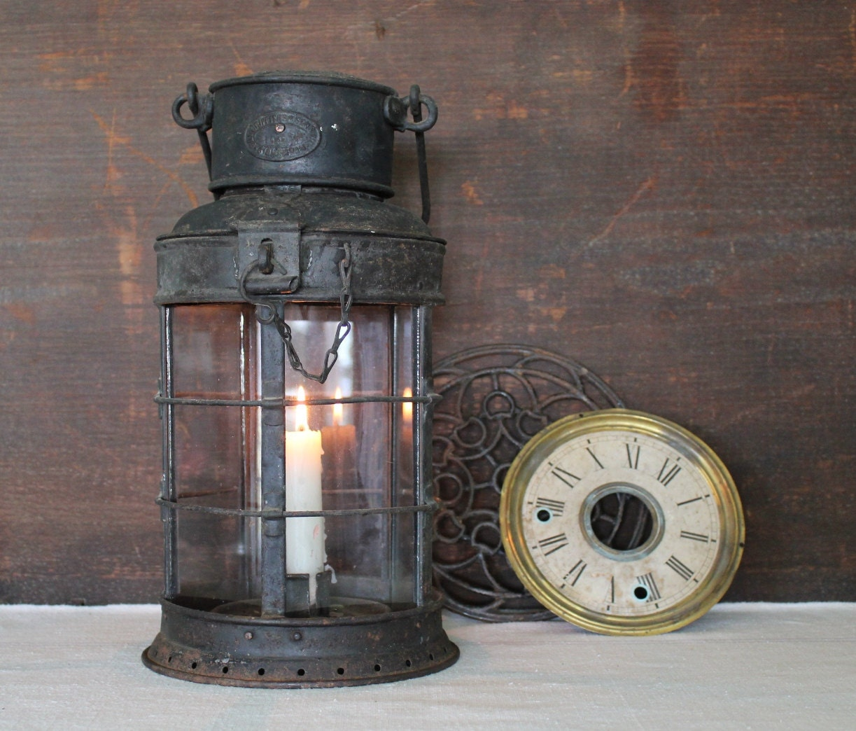Antique Candle Ship Lantern Griffiths and Son
