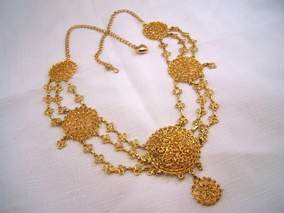 Beautiful Gold tone Middle East Masterpiece