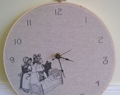 Goldilocks and the Three Bears embroidery hoop clock