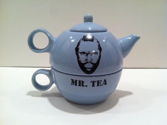 Mr. Tea, Tea-for-One set -- Powder Blue