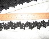 black passementerie trim