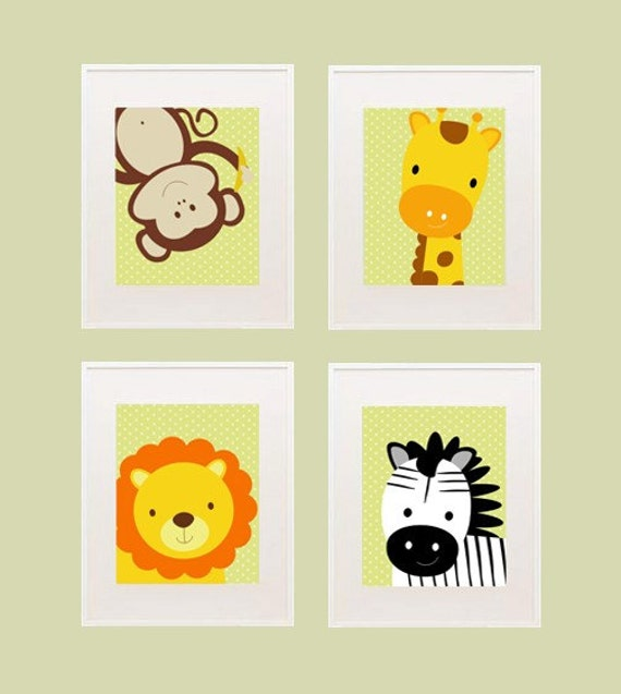 Safari Printable nursery wall decor by kutzypartyboutique on Etsy