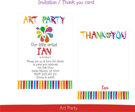 Printable Boy-girl Art Party
