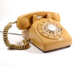 1970s Rotary Phone - Harvest Gold