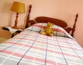 Cotton Weave Plaid Bedspread - Twin/Single