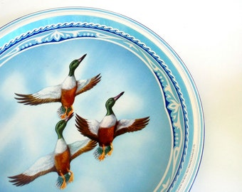 Vintage Metal Tray - Shoveller Ducks