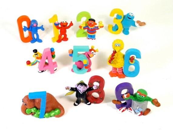 Sesame Street Number Figures - Complete Set of 10