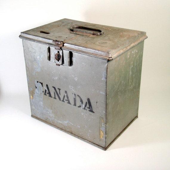 Galvanized Ballot Box