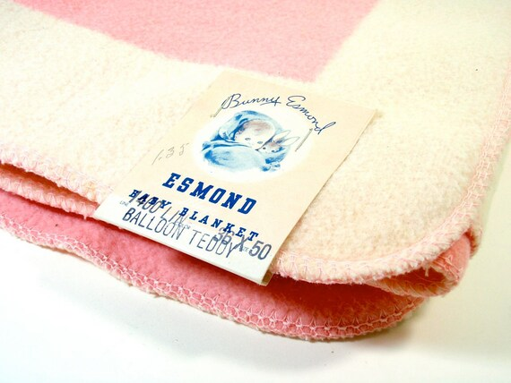 Vintage Esmond Mills Crib Blanket
