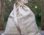 HOLIDAY SALE - Fat Little Bag, Kettle Dyed Tan Floral