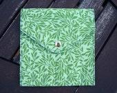DPN Keeper/Crochet Hook Case - Bright Green Leaves