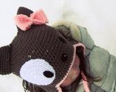 CROCHET HAT PATTERN Puppy Ear flap Hat - Child Size Only