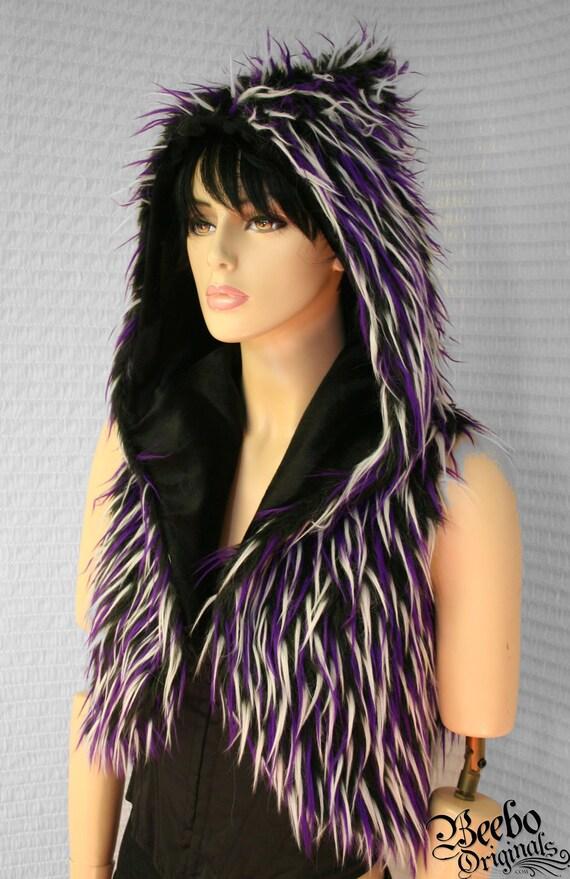 Party in purple Hoodie Vest