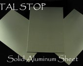 """Aluminum Metal Sheet 6"""" by 4"""" - Practice your stamping - Make Your Own Blanks and ID Tags 24 Gaug - Buy one Get One FREE"""