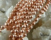 COPPER 2.4mm BALL CHAIN-18 inch Solid Copper - Available in All Lengths - Check out the Price