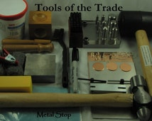 AWESOME Stamping Kit TOOLS Of The Trade - Includes the tools you need to start making stamped jewelry and name tag necklaces