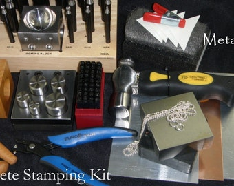 The COMPLETE STAMPING KIT Dapping Set, Upgraded Disk Cutter, Metal It's all here to start stamping