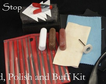 SUPER SHINE KIT Sand, Polish and Buff -The way to Shine and Finish Your Stamped Jewelry and Metal