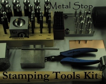Check Out- JUST STAMPING TOOLS KIT - Has all you need to Stamp, Dome and Cut  you jewelry. DETAILED INSTRUCTIONS INCLUDED - Free Gifts