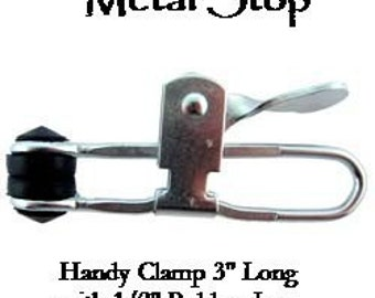 Rubber Jaw Clamp 3 inches long - great for holding work while polishing and sanding