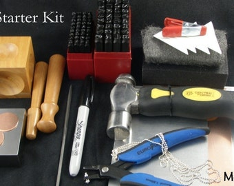 METAL JEWELRY STAMPING - Starter Kit two Alphabet With The Tools You Need To get Started