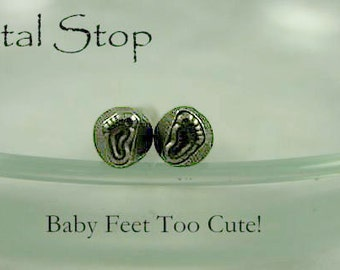 Metal Design Stamp - Set of BABY FEET - Check out my Metal Jewelry Stamping Supplies