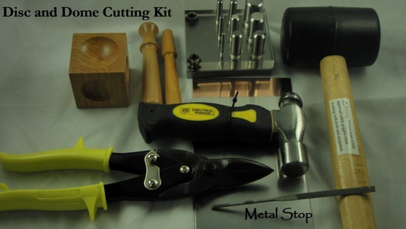 Metal Cutting DISC and DOME Kit - All the tools you need to cut and forge your metal for making Great Metal Jewelry - Instructions Included