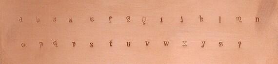 """NEW Fancy Font """"wonderland"""" lower case Alphabet Metal Stamp Set"""