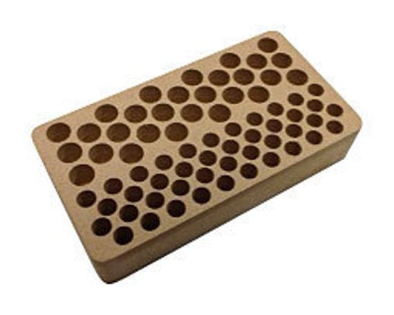 70 Hole Stamp Stand - 28 Large Holes and 42 Small Holes