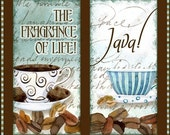 Digital coffee clip art AJR-104, jewelry collage 1x2 inch for soldered glass pendants cappucino latte mocha domino ephemera