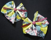 Shirley - Set of Handmade Bow Clips