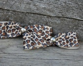 Peggy Sue - Set of Small Leopard Bow Clips