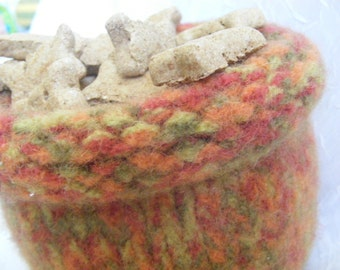 thick felted bowl with roll over lip