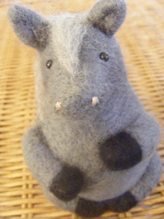 Felted grey pony