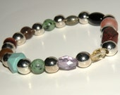 Fatigue Gemstone Healing Bracelet stretch *FREE SHIPPING USA* 462