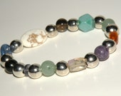 Migraine/Headache Gemstone Healing Bracelet stretch *FREE SHIPPING USA* 466