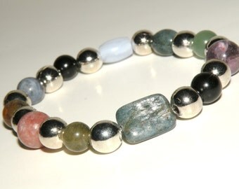 Allergies/Colds/Flu Gemstone Healing Bracelet stretch *FREE SHIPPING USA* 472