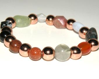 Arthritis Gemstone Healing Bracelet stretch *FREE SHIPPING USA* 460