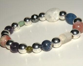 Insomnia Gemstone Healing Bracelet stretch *FREE SHIPPING USA* 465