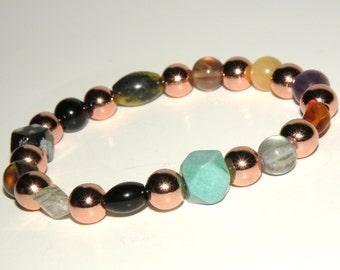 Pain Gemstone Healing Bracelet stretch *FREE SHIPPING USA* 467