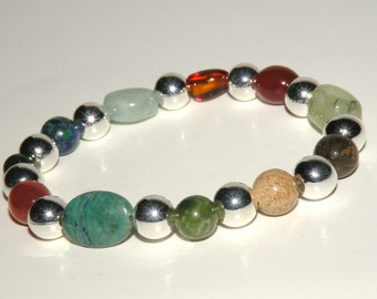 Urinary Tract Gemstone Healing Bracelet stretch *FREE SHIPPING USA* 478