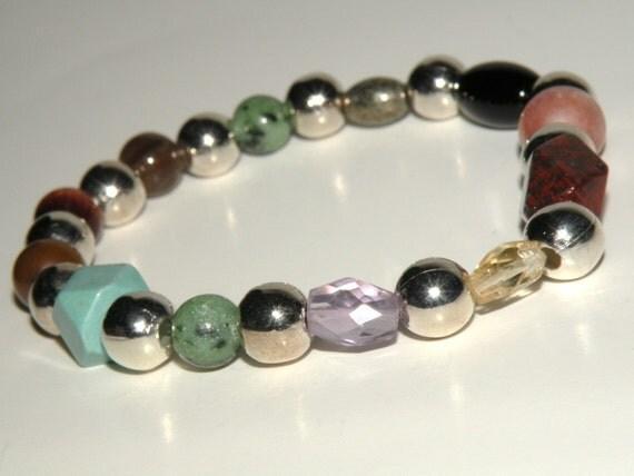 Fatigue Gemstone Healing Bracelet stretch *FREE SHIPPING USA* 462