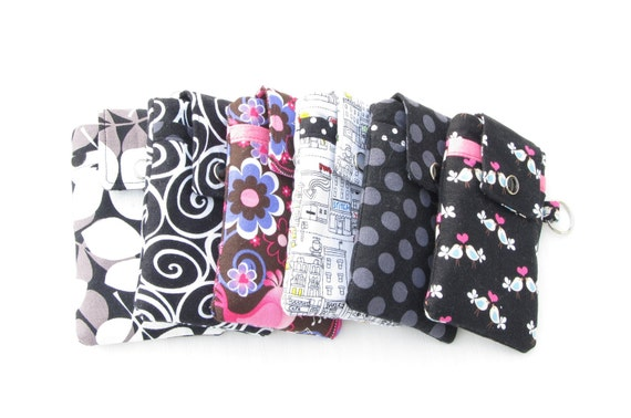 Fabric iPhone Case, Smartphone Cozy - YOU CHOOSE the Fabric, Options A - HTC, Droid Pouch / Sleeve