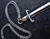 Sword Necklace - Silver