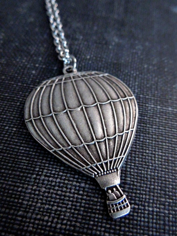 Hot Air Balloon Necklace - Silver