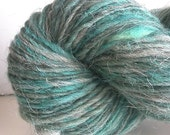 CLEARANCE - Handspun HandDyed grey Swaledale wool rustic Worsted Yarn - 206 yards