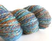 CLEARANCE - Handspun Hand Dyed supersoft BFL wool 2ply ArtYarn - 303 yards